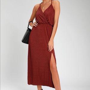 lush rust dress worn once